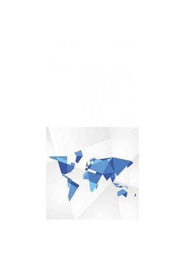 Artikel Mavi Geometrik Şekiller Dekoratif Çift Taraflı Yastık Kırlent Kılıfı 45x45 cm Renkli